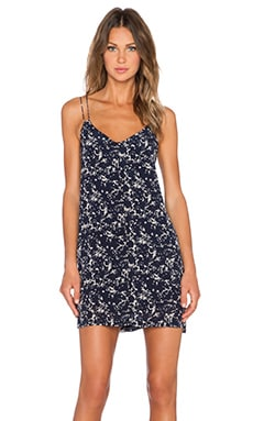 Bella Luxx Cami Slip Dress in Gold Coast Print