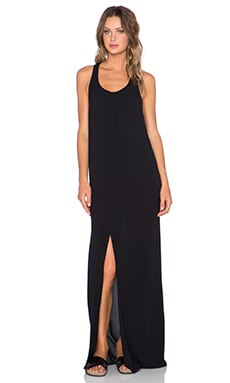 Bella Luxx Cross Back Maxi Dress in Black