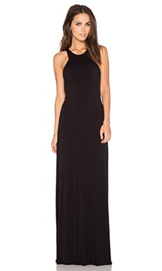 Bella Luxx Geometric Maxi Dress in Black