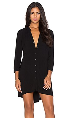 Bella Luxx Pleat Back Shirt Dress in Black