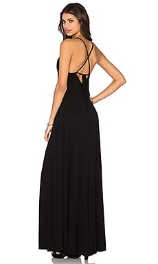 Low Back Maxi Dress in Black