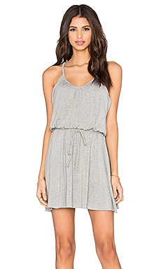 Shirred Cami Dress in Heather Grey
