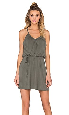 Shirred Cami Dress in Willow Green