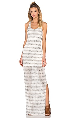 Stripe Maxi Dress in Cream & Marled
