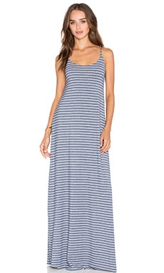 Low Back Maxi Dress in Quito Stripe