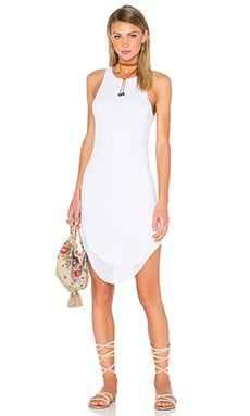 Mesh Midi Dress in White