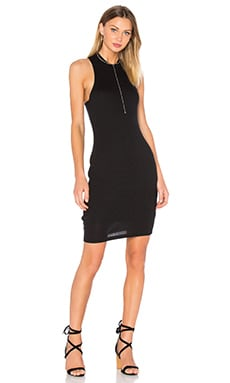 High Neck Tank Dress en Noir