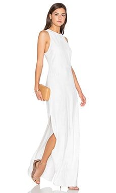 Bella Luxx Moss Crepe Elongated Tank Dress in Bone Brushed Marble