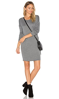 Cashmere Blend Trapezoid Dress in Heather Grey