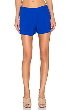 Bella Luxx Pleated Trouser Short in Sapphire
