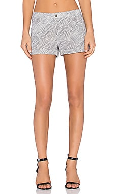 Flat Front Trouser Short in Jacmel Print