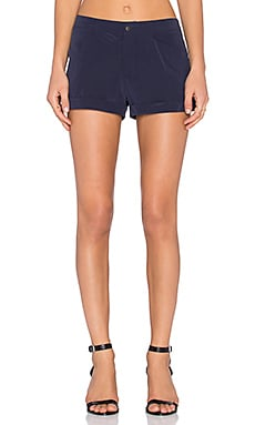 Flat Front Trouser Short in New Navy