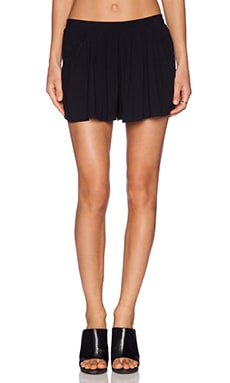 Bella Luxx Pleated Palazzo Short in Black