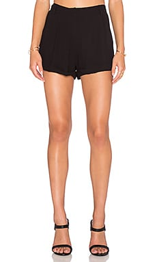 Bella Luxx Pleated Trouser Short in Black