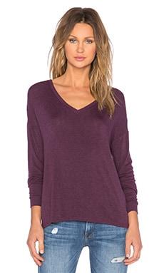 Bella Luxx Drop Shoulder Sweater in Black Currant