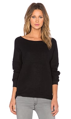 Bella Luxx Oversized Slouchy Pullover in Black