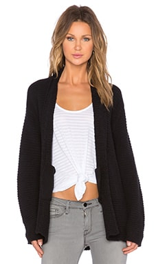 Bella Luxx Shawl Neck Cardigan in Black