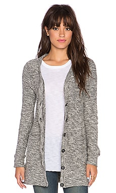 Bella Luxx Long Cardigan in Black & White