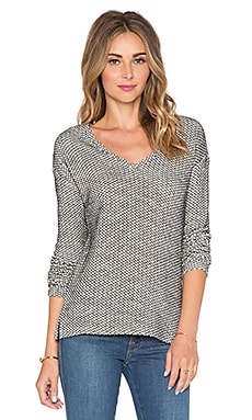 Bella Luxx Drop Shoulder Sweater in Cream & Black
