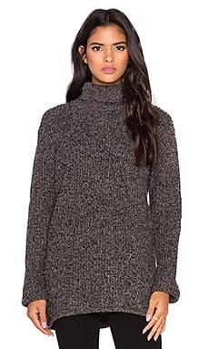 Bella Luxx Turtleneck Sweater in Grey & Black