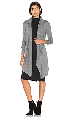 Cashmere Blend Drape Cardigan in Heather Grey