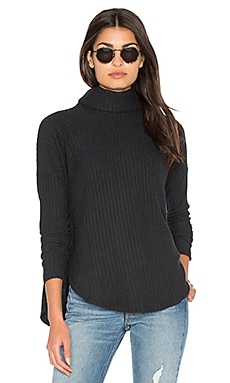 Plush Rib Funnel Neck Pullover Sweater