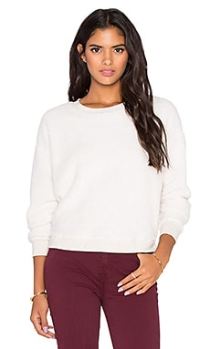 Bella Luxx Long Sleeve Faux Sherpa Sweatshirt in Cream