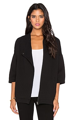 Bella Luxx Oversized Quilted Jacket in Black