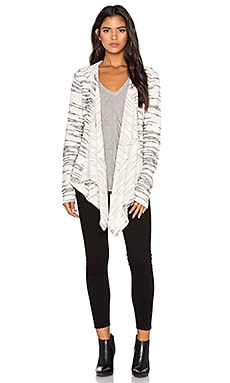 Bella Luxx Hooded Fly Away Jacket in Cream & Black