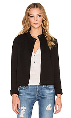 Bella Luxx Quilted Moto Jacket in Black