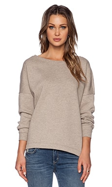 Bella Luxx Oversized Slouchy Pullover in Sand Heather