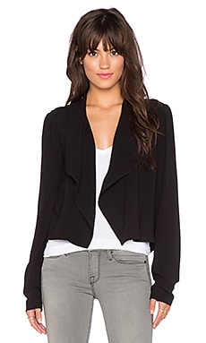 Bella Luxx Draped Jacket in Black