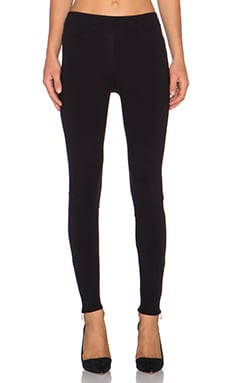 Bella Luxx Size Zip Legging in Black