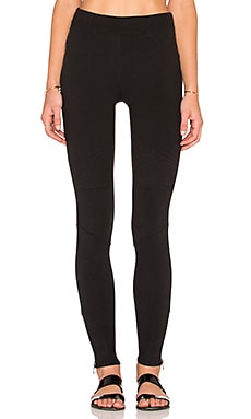 Side Zip Legging in Black