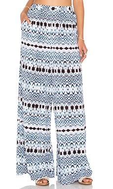 High Waist Wide Leg Pant in Bermuda Print