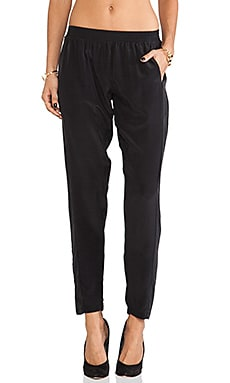 Bella Luxx Silk Pant in Black
