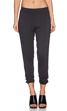 Bella Luxx Tuxedo Lounge Pant in Black Heather