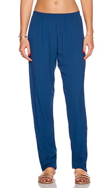 Bella Luxx Relaxed Fit Pant in Azul