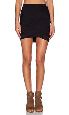 Bella Luxx Twist Skirt in Black