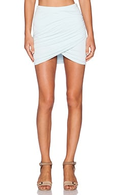 Bella Luxx Shirred Cross Front Skirt in Aquamarine