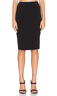 Bella Luxx Paneled Midi Skirt in Black