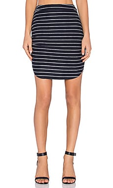 Bella Luxx Baby Loop Stripe Shirred Skirt in Chavon Stripe