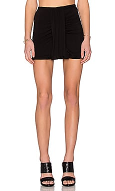 Bella Luxx Side Drape Mini Skirt in Black