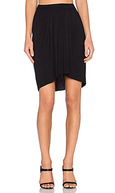 Bella Luxx High Low Pleated Skirt in Black