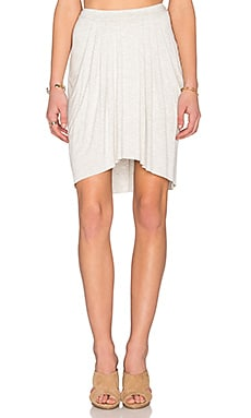 High Low Pleated Skirt in Bone Heather