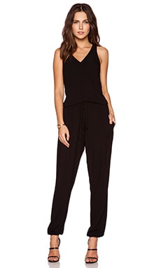 Bella Luxx V Neck Jumpsuit in Black