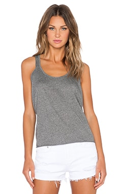 Bella Luxx Oversized Crop Tank in Black Static