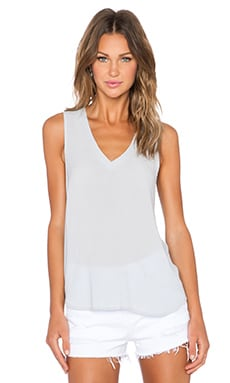 Bella Luxx Layered Back Tank in Moonstone
