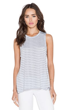 Bella Luxx Hi-Low Muscle Tank in Auckland Stripe