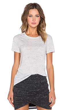 Bella Luxx Marble Crew Neck Tee in White Marble